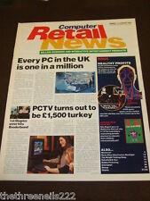 COMPUTER RETAIL NEWS - PCTV IS A TURKEY - JAN 15 1996