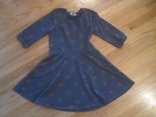 Girl OLD NAVY GOLD TAN STARS BLUE SKATER COTTON DRESS EUC 8 PATRIOTIC NAUTICAL