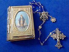 Custom SWAROVSKI Crystal Rosary MIRACULOUS Rosary Case Sapphire OLO Grace 6mm