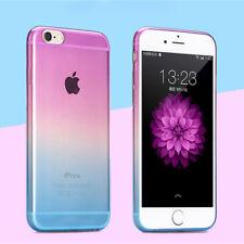 Funda para iPhone 7 7 Samsung Galaxy 8 Plus Gradiente Plus Arco Iris clara duro volver