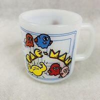 Vintage Pac-Man Milk Glass Mug Coffee Cup Glasbake 1980s 80s Pac Man Video Game