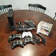 Microsoft XBox 360 S 1538 System Lot Kinect 10 Games Console Bundle 4 Controller