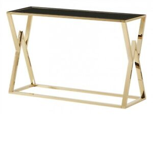 Mombasa Gold Black Console Table