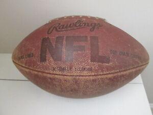 Vintage Leather Football Offiial NFL Rawlings Top Grain Leather Football
