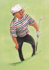 Tommy Nakajima Golf CARICATURE Prin TBY John Ireland IMAGE mesures 19 cm x 27 cm
