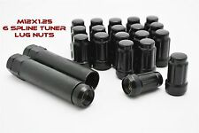 M12x1.25 Closed End 6 Spline Tuner Lug Nuts With 2 Socket Keys