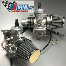 Triumph Bonneville 650 thru-mid 69 Mikuni VM Carb Kit with Black POD Air-Filters