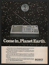1981 SONY ICF-2001 Worldband Radio  -COME IN PLANET EARTH  VINTAGE ADVERTISEMENT
