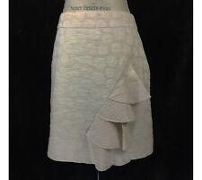 Anthropologie Odille Beige Ruffles Skirt Size 14
