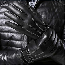 No finger print Touch Screen Leather Gloves Fashion Mens Car Driving Gloves
