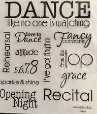 Dance Recital Phrase Scrapbook Stickers