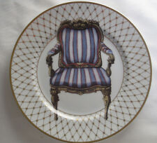 Fitz & Floyd Collector Plate w/ Striped French Armchair, Japan Fine Porcelain