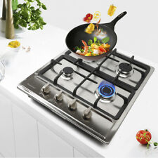 4 Burners Built-in Cooktop Natural gas Stove Stainless Steel Cooking Top 58*50cm