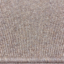 Berber Carpet Remnant Roll End In Oak Brown Wool Loop Rib Pile 4x7m 38% OFF