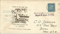 Maritime Mail Cover Posted On Board SS Oriente To New York 2 Feb 1938 U684