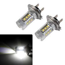 2pcs H7 6000K CREE COB LED Headlight Bulbs White High Beam Fog Lamp DRL Samsung