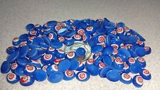 Vintage Millefiori Lampwork Glass Cabochon 8mmx6mm Oval - Blue - Flower 04472
