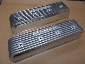 Offenhauser Studebaker valve covers polished finned aluminum Offy