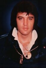 Elvis Presley with Longer Hair and Necklace The King of Rock 'n' Roll - Postcard