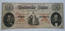 $10 The Confederate States of America 1861 T-26