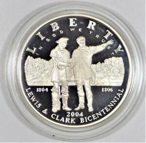 2004-P Lewis & Clark Commemorative Silver Dollar; Superb Gem Proof