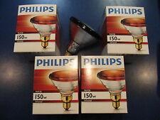 4x Philips PAR38 IR ROUGE 150W 230V E27 Lampe Infrarouge de chaleur Spot