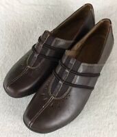 Naturalizer Nasan Women's Brown Leather Slip On Loafers Shoes Size 11M