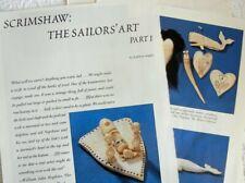 14p Rare History Article + Color Pics -   Antique Scrimshaw Sewing Tools