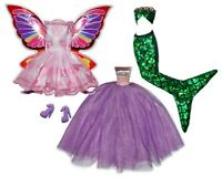 Barbie Doll Clothes Lot Dress Up Set 3 in 1 Wings Fairy to Mermaid to Princess