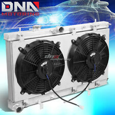 FOR 02-07 IMPREZA WRX STI 2-ROW/DUAL CORE COOLING ALUMINUM RADIATOR+FAN SHROUD