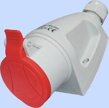 16A 400V  5 Pin Wall Socket Red 3P+N+E 3 Phase  IP44