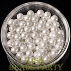 New 144pcs 8mm Round Czech Glass Pearl Loose Spacer Beads Pure White