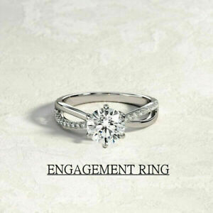 Gorgeous White Sapphire 925 Silver,Gold,Rose Gold Ring Wedding Rings Size 6-10
