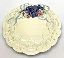 "Fitz & Floyd Vintage Victorian Lace 8 1/2"" Canapé Snack Plate Collector 1993"
