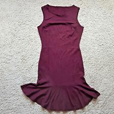 Ladies Trumpet Dress Size 14 Maroon Burgundy Stretch Sleeveless Party Evening
