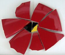 Large Red Poppy Flower Mosaic Tiles Broken Cut China Plate