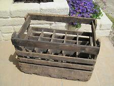 Ancien Casier Caisse Bois HUILE LESIEUR 15 Bouteilles Wooden bottle rack old box