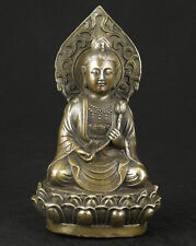 Super Chinese Old Bronze Collectable Handwork Casting Buddha Kwan-yin Statue