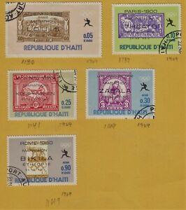 HAITI Stamps Scott 616, 616A, 616E, 616H, 616M Used CTO