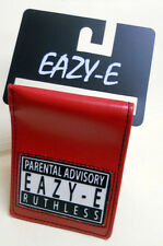 NWT NWA Eazy E Compton PARENTAL ADVISORY Ruthless RED BIFOLD WALLET - Licensed