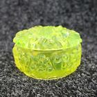 Vintage Green Vaseline Uranium Glass Dose Jewelry