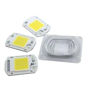LED chip COB 20W 30W 50W Lens Reflector 110V 220V Smart IC Lamp DIY Floodlight