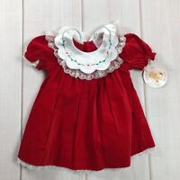 NEW Baby Togs Girls  6-9 Months Fit & Flare Lace Floral Christmas Vintage Dress