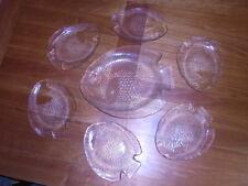 6 GLAS FISCH TELLER/Fischform ARCOROC POISSON Servierplatte Karpfen