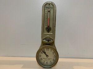 "Vtg ""The Minneapolis"" Honeywell  8 Day 7 Jewel Model 77 Heat Regulator & Clock"