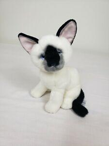"Russ Berrie Zia 8"" Plush Siamese Cat Kitten Stuffed Animal Toy Sitting"