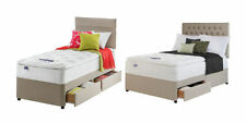 Silentnight Fabric Medium Firm Beds with Mattresses