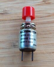 NEW Alcoswitch RED Normally Open Round Momentary Push Button Switch ~ Ships FREE