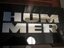 GM 03-09 H2 REAR BUMPER LETTERS INSERTS FILLS ACRLIC