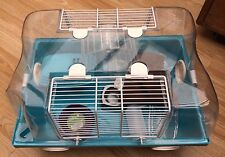 1Tier small plastic blue hamster/mouse cage